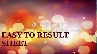 Excel Result Sheet Bangla Tutorial .....