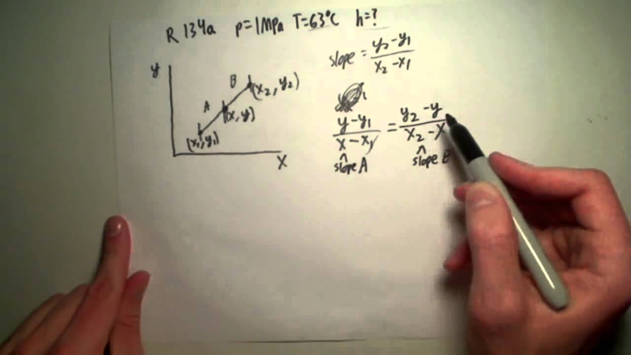 Lesson 4 Linear Interpolation With Thermodynamic Tables