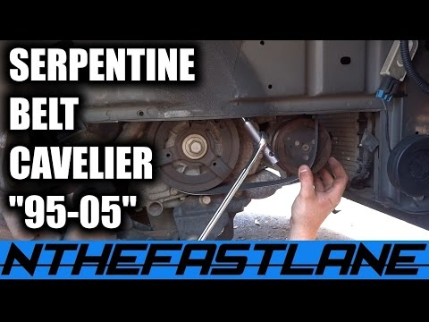 Serpentine Belt: How To Replace (Chevy Cavalier Ecotec 1995-2005)