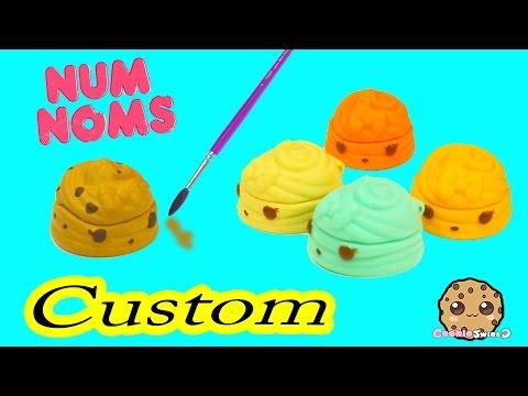 DIY Custom Painting Num Noms Lip Gloss Toy - Do It Yourself Craft Cookieswirlc Video