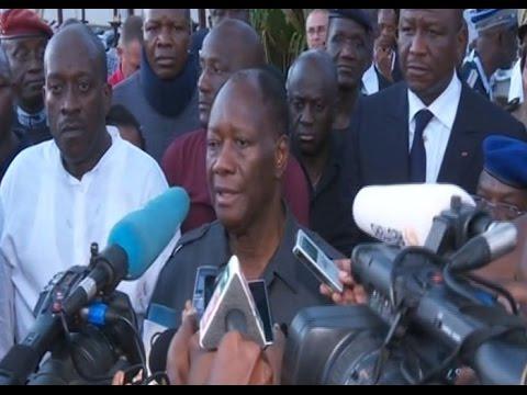 Attaques de Grand-Bassam: Déclaration du président Alassane Ouattara