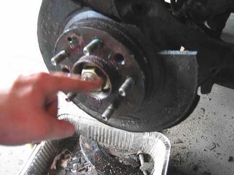 05 Mazda6 Brake Rotor removal problems