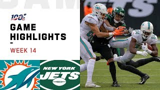 Dolphins vs. Jets Week 14 Highlights | NFL 2019