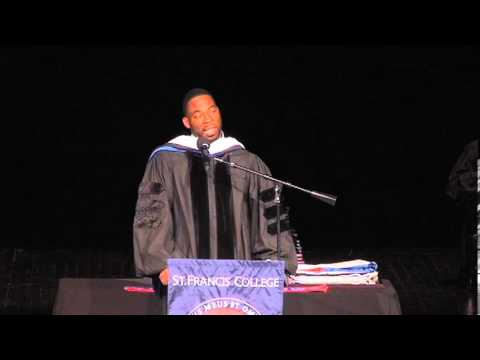 Dr. Justin Tuck at St. Francis College Graduation