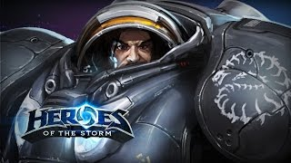 ♥ Heroes of the Storm (A-Z Gameplay) Raynor (HoTs Quick Match)