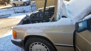 Mercedes Benz 190d 2.5 cold start