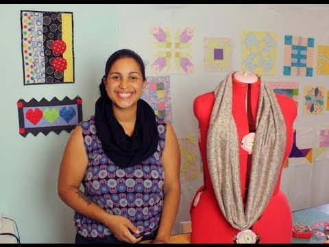 How to Make an Infinity Scarf- DIY Sewing Tutorial