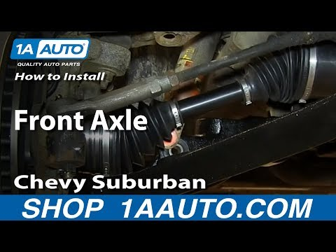 How To Install Replace Front Axle 2000-06 Chevy Suburban Tahoe GMC Yukon