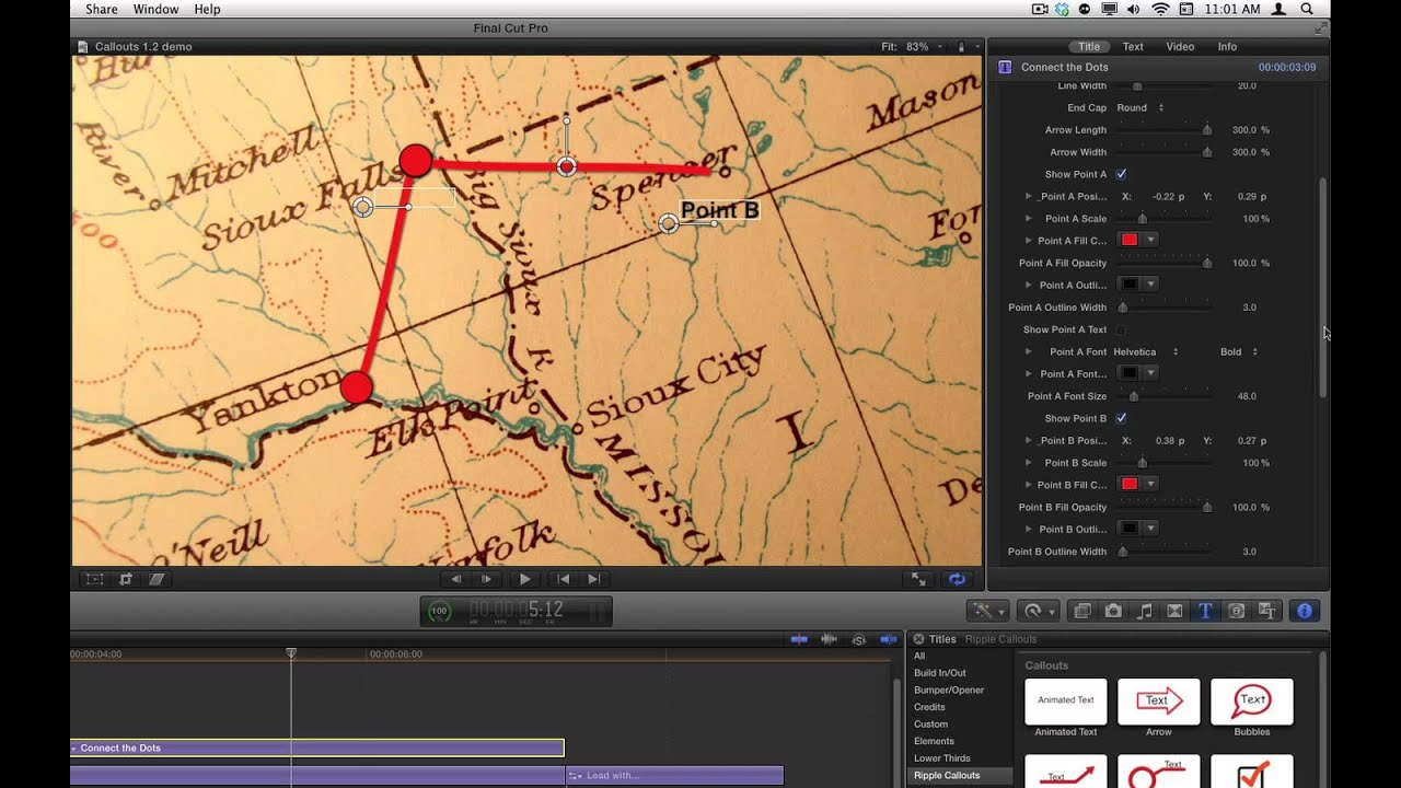 Drawing Lines In Final Cut Pro : Indiana jones travel maps in final cut pro youtube