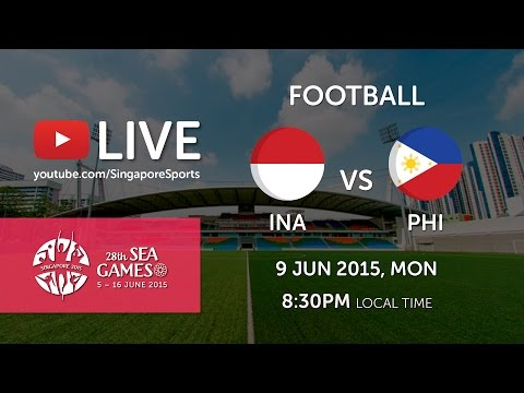 Football Indonesia vs Philippines (Jalan Besar Stadium Day 4) | 28th SEA Games Singapore 2015