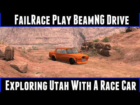 FailRace Play BeamNG Drive Exploring Utah With A Race Car