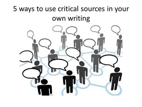 Download Lit Crit Tips: Using Secondary Sources