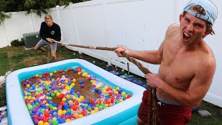 DONT Get Pulled into the GROSS Pool!! *EXTREME TUG OF WAR*