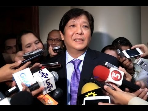 Sen. Bongbong Marcos - On 2016 plans, BOC and oversight committee rationalization 06-Aug-2013