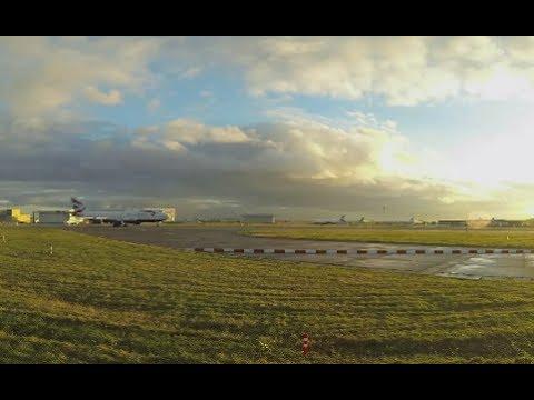 London Heathrow airport rush hour sunset departures Time Lapse GoPro camera Hero3