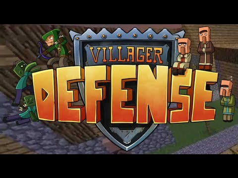 Minecraft VILLAGER DEFENSE |#4| W/Dave and Steve WHOOPS SORRY!!  (HD)