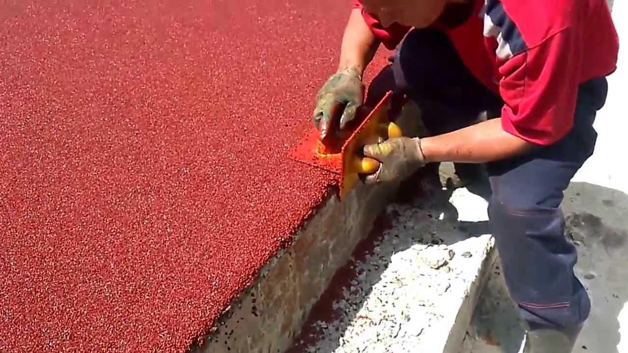 Изготовление резинового покрытия из резиновой крошки своими руками