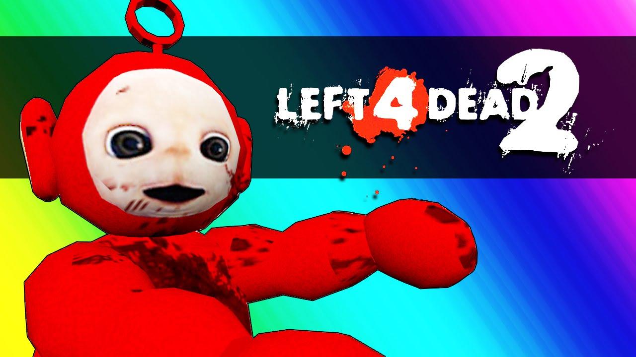 Left 4 Dead 2 - Dinosaurs vs. Teletubbies! (Mods Funny Moments)