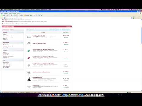 IE6 XPSP3 mit geizkragen.de auf dem Mac