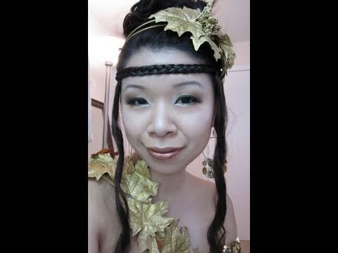 Halloween Makeup & Hair Tutorial: Greek Goddess