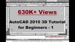 AutoCAD 3D Modeling Tutorials (Basic & Advanced Tutorials)