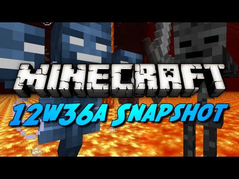 Minecraft Snapshots - 12w36a - Mob Heads. Wither Skeletons. Control Pigs & More!