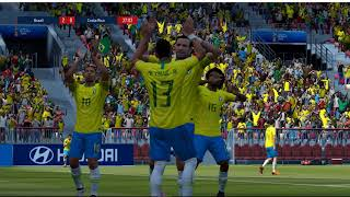 Kết Quả Brazil vs Costa Rica:Neymar tỏa sáng rức rỡ - Bảng E World cup 2018(fifa online4)