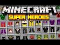 Minecraft SUPER HEROES UNLIMITED MOD! | SUPER HEROES! SPIDERMAN, BATMAN, SUPERMAN | Modded Minecraft