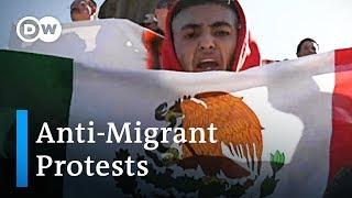 Anti-Immigrant protests spark violence in Tijuana | DW News
