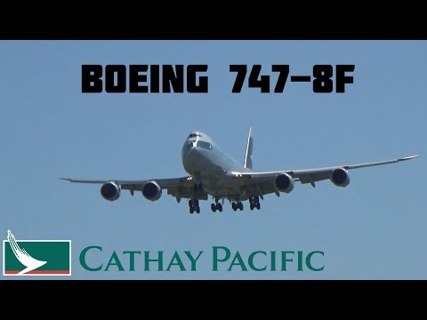 RARE DAYTIME LANDING: Cathay Pacific Cargo Boeing 747-8F @ Toronto Pearson Int'l May 22, 2015
