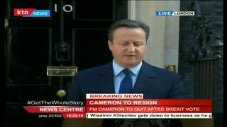 UK Prime Minister David Cameron resign after Brexit; he had this to say to the world