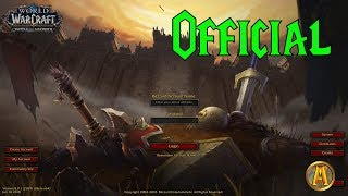 OFFICIAL Battle for Azeroth Login Screen [Main Theme & Animation]