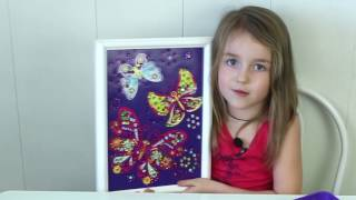 A picture of sequins:  Butterflies!!  Картина из ПАЙЕТОК ❤Veronika Romanovna