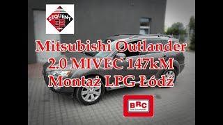 Mitsubishi Outlander 2.0 147kM montaż instalacji BRC od ARG Auto Gaz Łódź