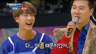 【TVPP】BTS,TEEN TOP-Korean wrestling Semifinal, 방탄소년단,틴탑-남자 씨름 준결승 @2016 Idol Star Championships