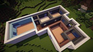 Красивый дом в minecraft канадский дом