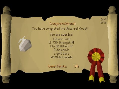 Runescape 2007 Waterfall quest guide simple and easy ! HD (Charlie)
