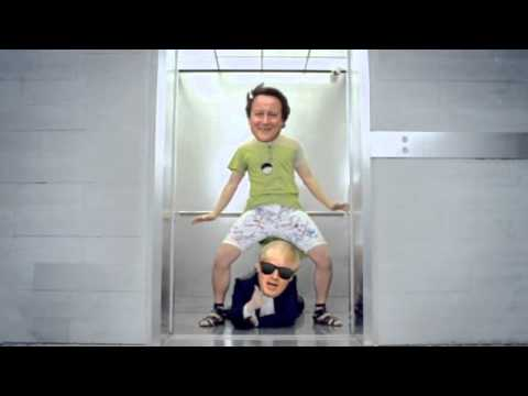 Boris Johnson and David Cameron dance Gangnam Style - video animation