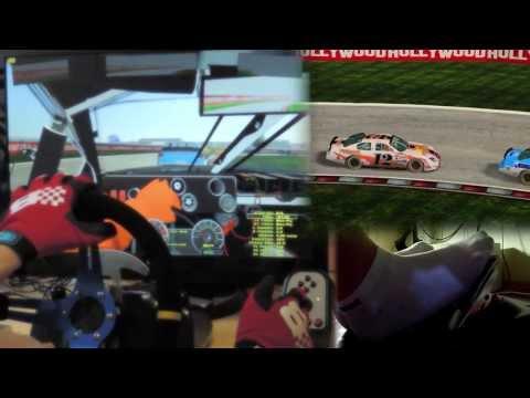 NASCAR mod - rFactor 2 mod Logitech G27 gameplay Custom Steering Wheel, feet/clutch. 1080p 2013
