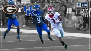 Georgia vs. Kentucky 2018: Bulldogs Run Wild to Victory