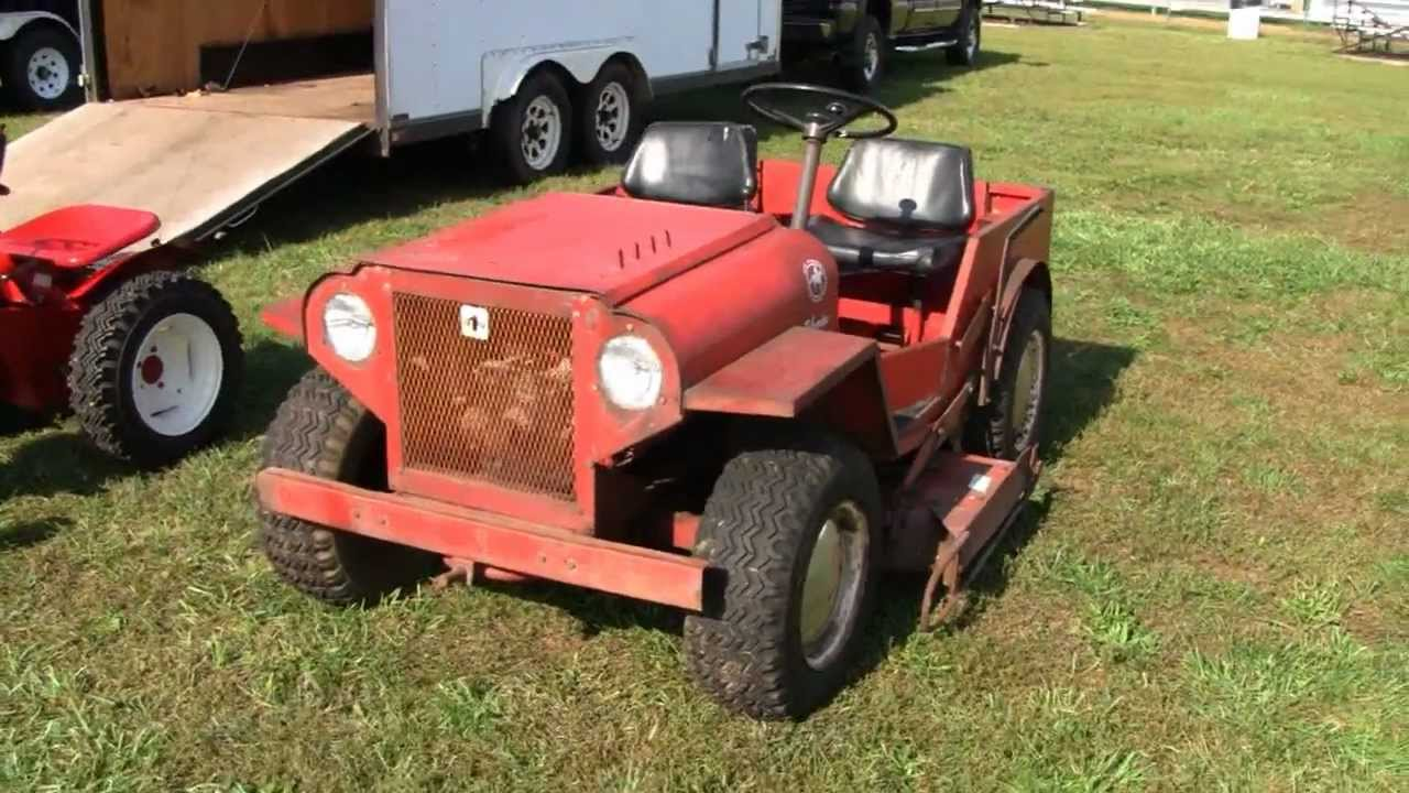 Lawn Mower For Sale Ebay >> RARE MINI JEEP ROOF PALOMINO LAWN TRACTOR - YouTube