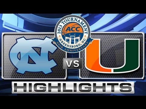 North Carolina vs Miami Highlights ACC Men's Basketball Tournament - Championship