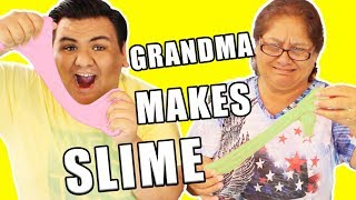 MY GRANDMA MAKES SLIME!!! 😂