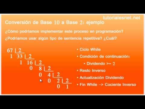 Conversión de un número en base decimal a base q