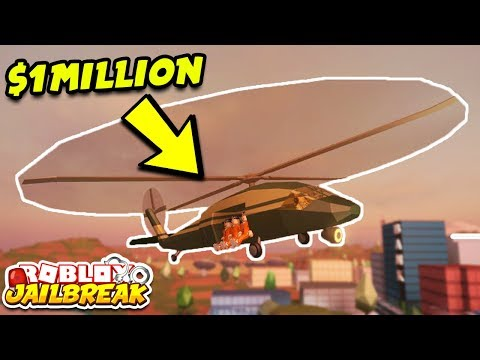 NEW MILITARY HELICOPTER UPDATE! 1 MILLION DOLLARS! (Roblox Jailbreak 1 Year Update)