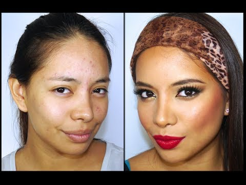 maquillaje verde cobre y dorado tutori