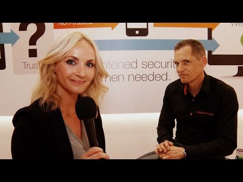 Day 1 Infosecurity Europe 2014 with SMS Passcode and Holly Knebel Trade Show Video Production