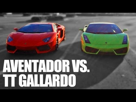 Underground Racing Twin Turbo Gallardo vs Lamborghini Aventador LP700-4