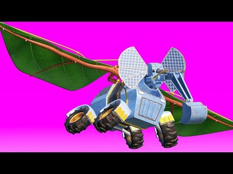 AnimaCars - Der ELEFANT BAGGER will FLIEGEN!  - Zeichentrickfilme für Kinder mit Lastwagen & Tieren