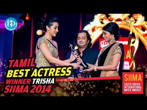 Siima 2014 Tamil Best Actress | Trisha | For Endrendrum Punnagai Movie video